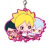 Boruto Naruto Next Generation - Keychain Boruto, Sarada et Mitsuki Rubber Mascot