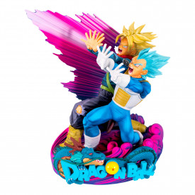 Dragon Ball Super - Figurine Vegeta et Trunks Super Master Stars Diorama II The Brush II