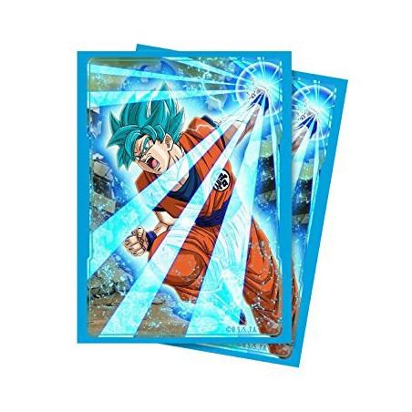 65 Protèges Cartes Super Saiyan Blue Son Goku Ultra Pro image