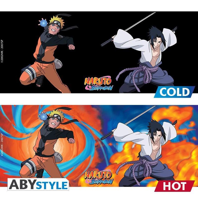 Naruto Shippuden - Mug thermo-réactif Naruto et Sasuke