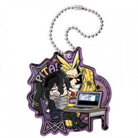 My Hero Academia - Strap Aizawa Shouta & All Might Acrylic Keychain Pita ! Defome