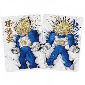 Dragon Ball Super VS Dragon Ball Z - Pochette A4 Super Sangoku SSJ & Super Trunks SSJ Ichiban Kuji I Prize