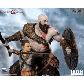 God Of War - Statue Kratos & Atreus Art Scale Deluxe Edition 1/10