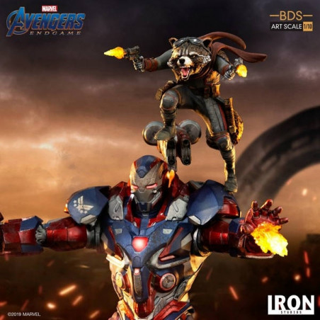 Avengers Endgame - Statue Iron Patriot & Rocket BDS Art Scale 1/10 image