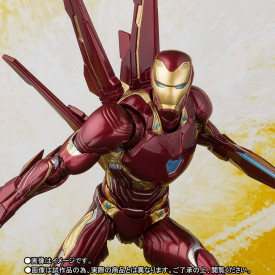 Avengers Infinity War - Figurine Iron Man Mark 50 S.H.Figuarts Nano Weapon Set