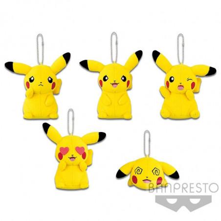 Pokémon - Peluche Strap Pikachu Mania Ver.B. Colère