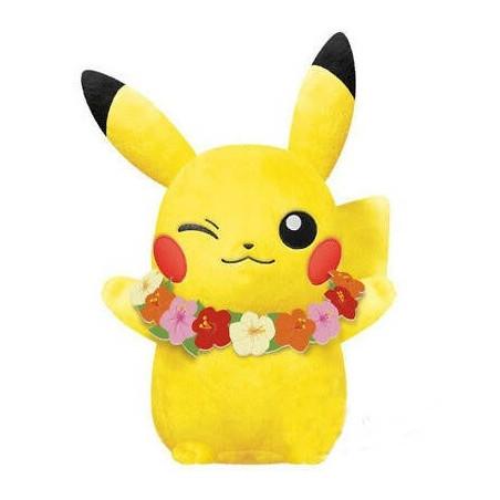 Pokémon - Peluche Pikachu Summer Winking Hawaii Ver. image