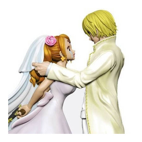 One Piece - Figurine Charlotte Pudding & Sanji Log Box Re Birth Whole Cake Island image
