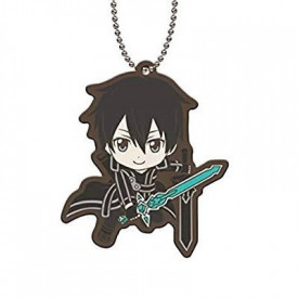 Sword Art Online - Strap Kirito Capsule Rubber Mascot 01