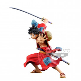One Piece - Figurine Monkey D Luffy BFWC III Super Master Stars Piece Manga Dimensions