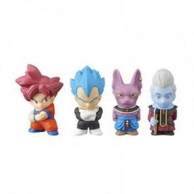 Dragon Ball Super - Pack 4 Figurines Chou Senshi Mini Figure Set 2