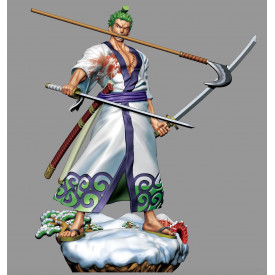 One Piece - Figurine Roronoa Zoro Log Box Re Birth Wano Country Vol.1