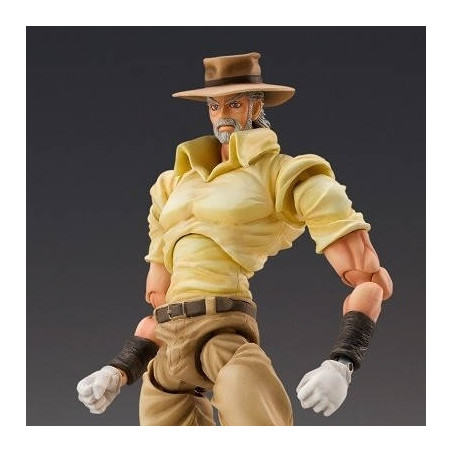 Jojo's Bizarre Adventure - Figurine Joseph Joestar & Iggy Super Action Chozokado image