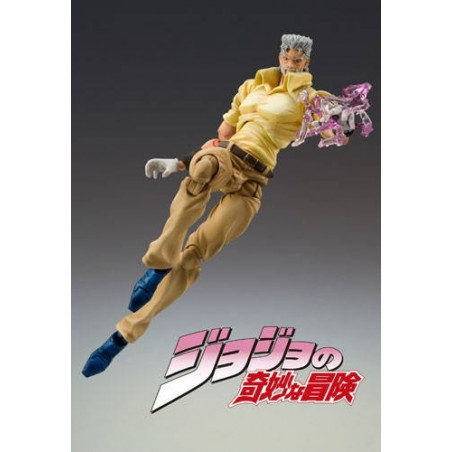 Jojo's Bizarre Adventure - Figurine Joseph Joestar & Iggy Super Action Chozokado