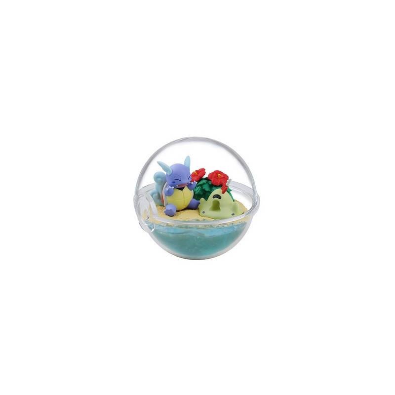 Pokemon - Figurine Carabaffe & Bacabouh Pokéball Terrarium Collection Four Seasons