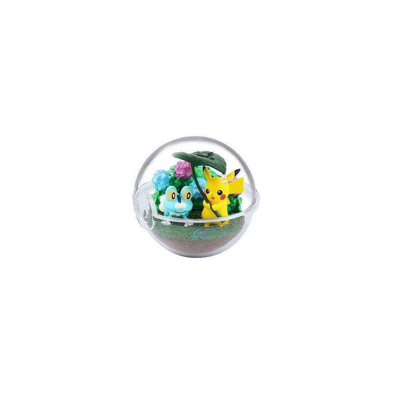 Pokemon – Figurine Grenousse & Pikachu Pokéball Terrarium Collection Four Seasons