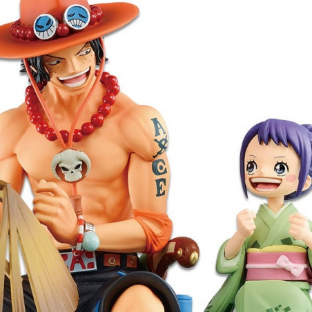One Piece – Figurine Portgas D Ace & Otama Memorial Vignette Ichibancho Wano Country 2nd Act image