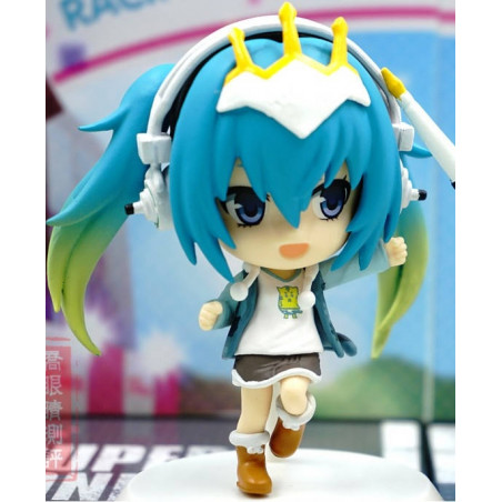 Super Sonico X Hatsune Miku - Figurines Hatsune Miku Chibi Kyun-Chara Racing