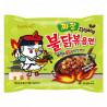 Nouilles Instantanées Poulet Épicé Et Jiajang (Sauce Coréenne Aux Haricots Noirs)