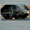 Star Wars - Poster en verre Tie Fighter et X-Wing 60 x 30 cm