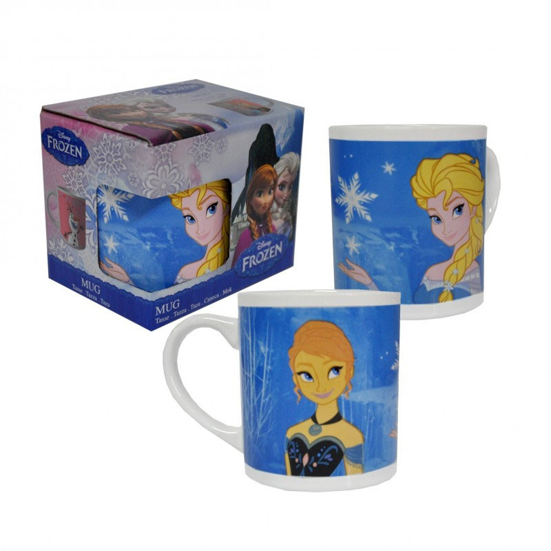 La Reine Des Neiges - Mug Elsa et Anna Bleu