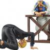 One Piece - Figurine Sanji et Zeff Dramatic Showcase Saison 6 Vol.1