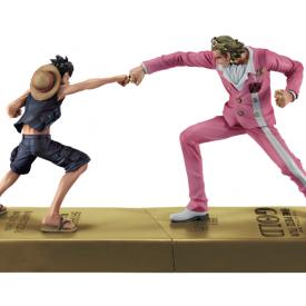 One Piece - Figurine Luffy et Gild Tesoro DXF Manhood 2