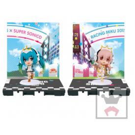 Super Sonico X Hatsune Miku - Figurine Miku et Sonico Chibi Kyun-Chara Racing