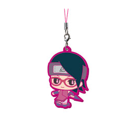 Boruto Naruto The Movie - Keychain Uchiwa Sarada Rubber Mascot