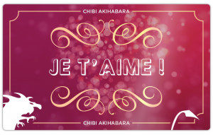 Je t'aime (Marron & Or)